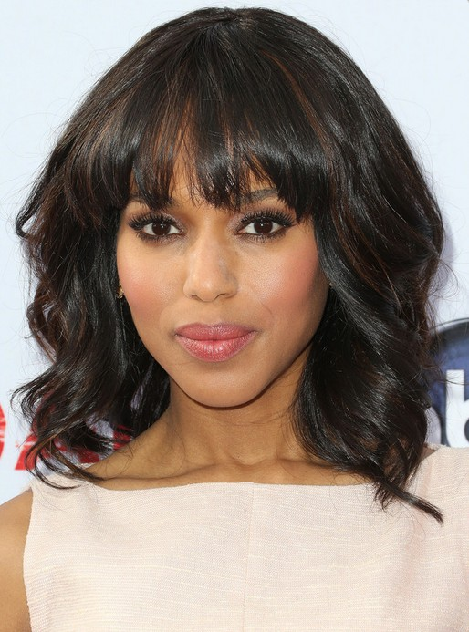 Kerry-Washington-Hairstyles-Medium-Wavy-Haircut