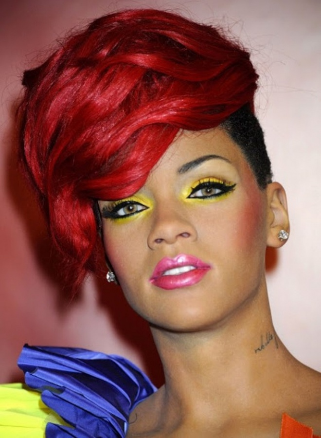 Rihanna short layered hairstyles 2013black hair style black hair