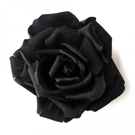 Black-Flower-Hair-Clip-428