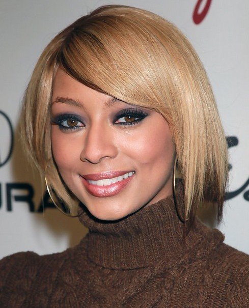 Keri-Hilson-Short-Blonde-Straight-Bob-Haircut-for-Black-Women