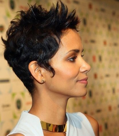 Short-Spiky-Haircut-for-Black-Women