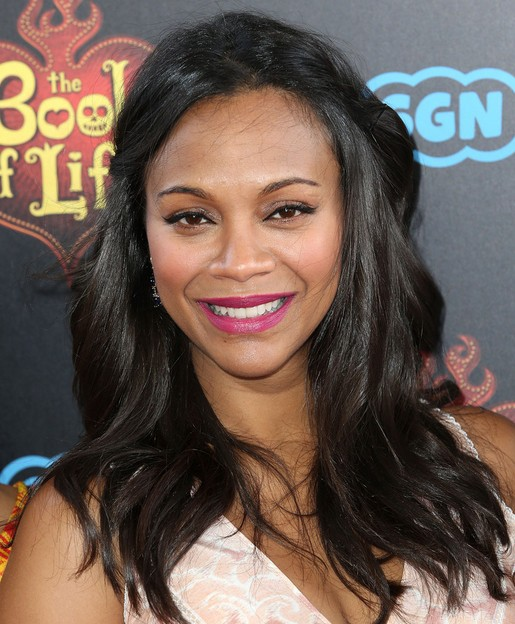Zoe-Saldana-Half-Up-Half-Down-Hairstyle-for-Black-Women
