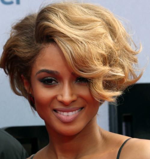 Ciara short wavy bob hairstyleBlack Hair Style