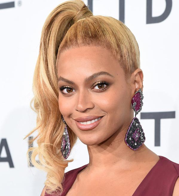 2015_holiday_party_hairstyles_Beyonce_80s_high_ponytail