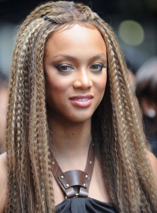 Tyra Banks Crimped Hairstyle