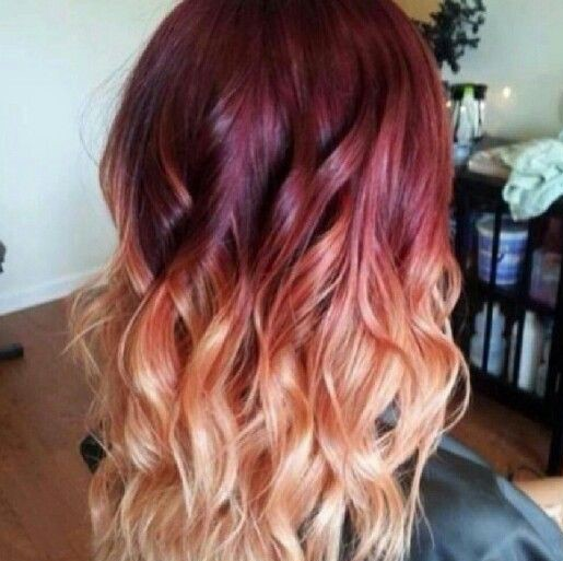 Red-Orange Colombre hair