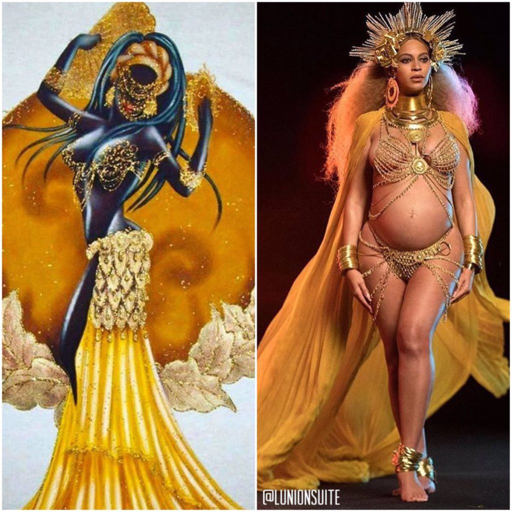 Beyonce as Goddess