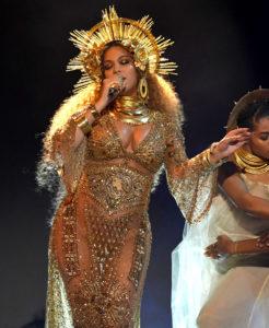 Beyonce depicting a goddess
