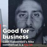 "Kaepernick says ""Just Do It"""
