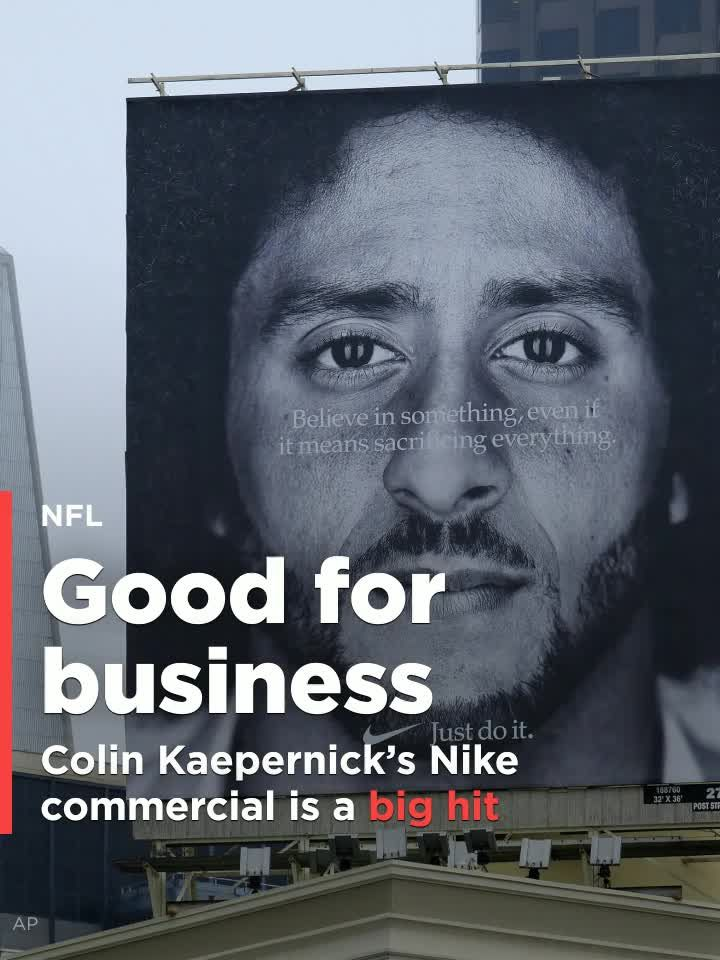 "Kaepernick says ""Just Do It"""