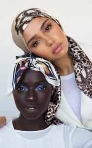Satin Sleeping Scarf for Natural Hair Styles